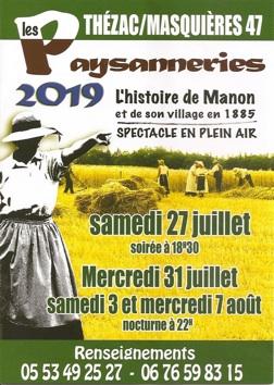 26/07 : Festival de Monflanquin et les Paysanneries de Thézac