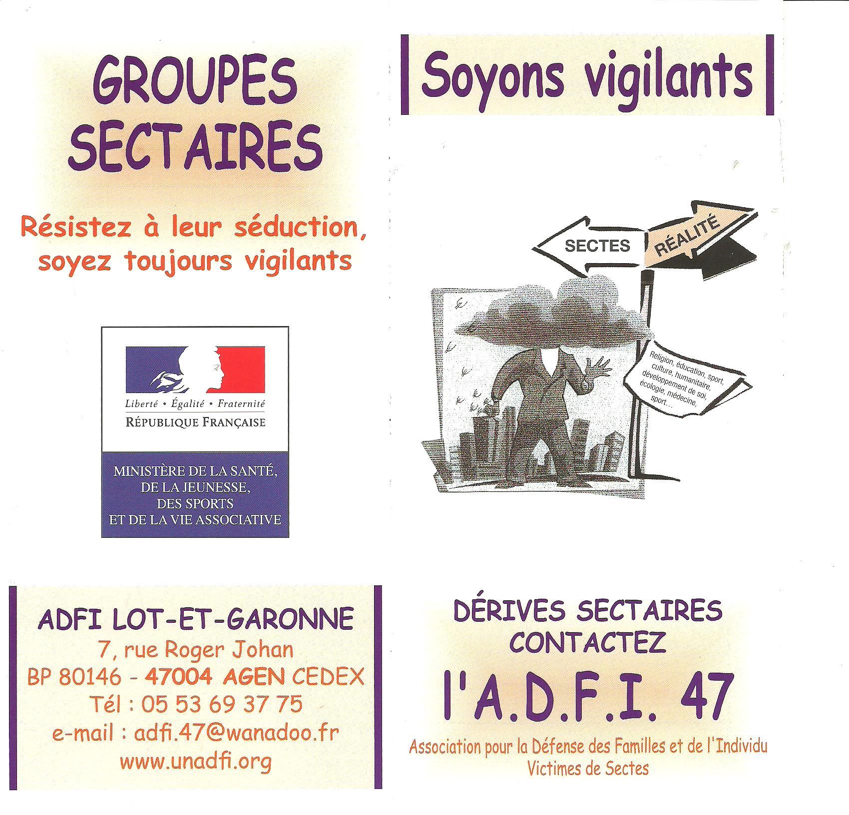 L'ADFI 47 : Soyons vigilants !