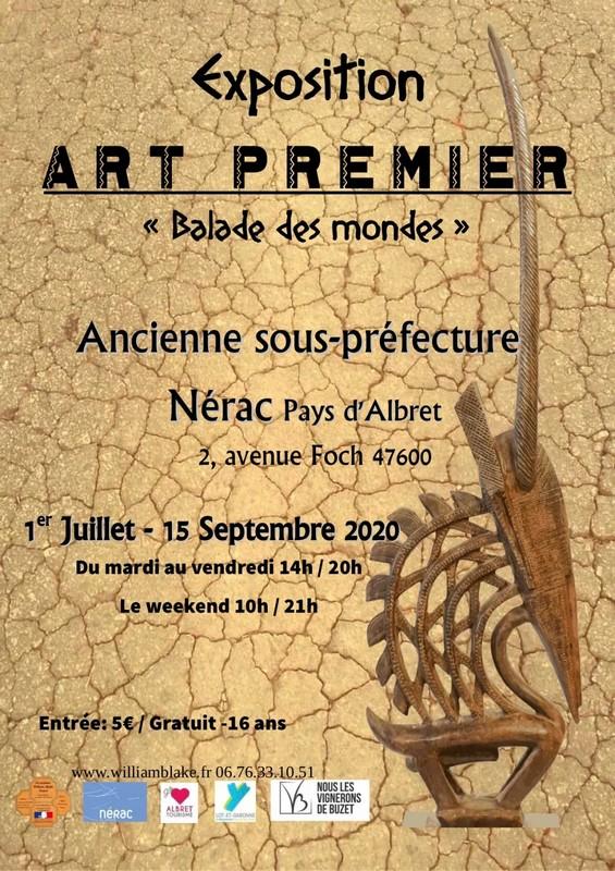 Exposition d'Art Premier – Balade des mondes – Association William Blake France