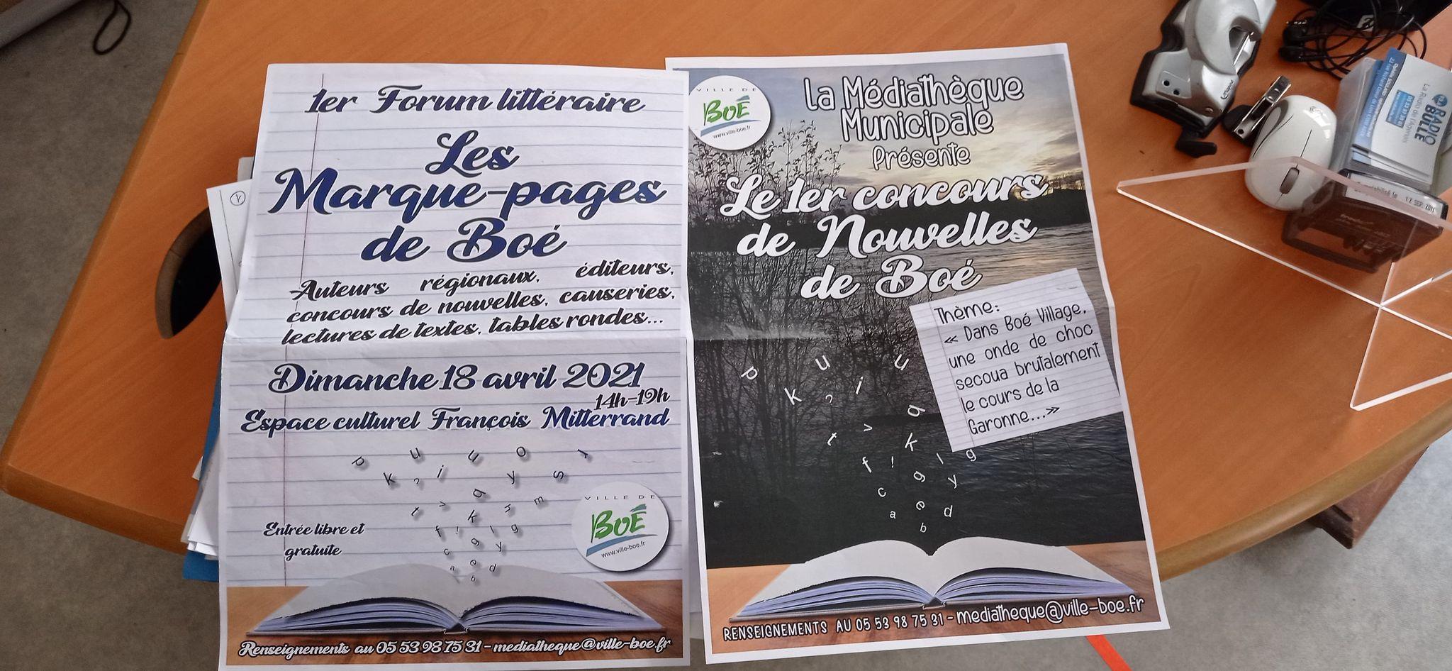 Un forum littéraire et un concours de nouvelles, c'est ce que propose la Ville de Boé !