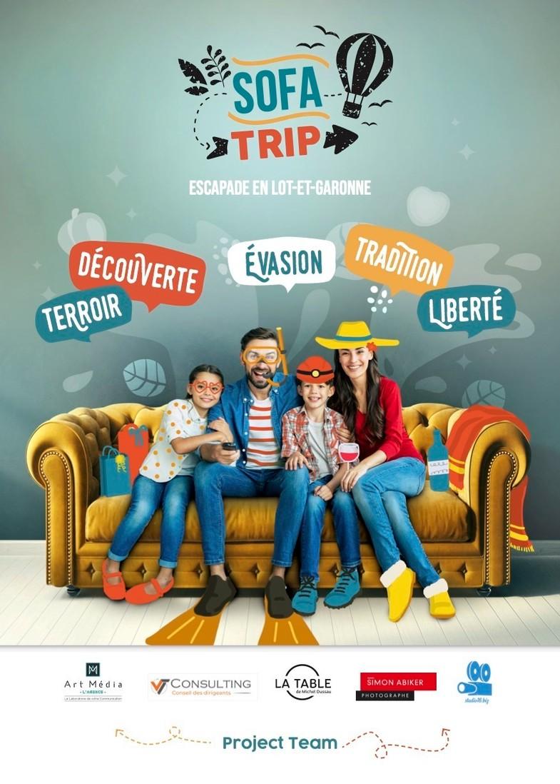 Voyager en Lot-et-Garonne depuis son canapé, c'est possible avec Sofa Trip